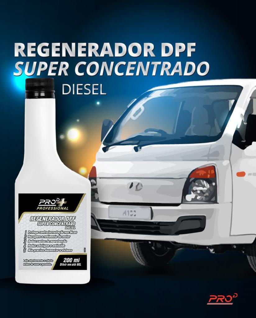 Regenerador Filtro DPF caminhão branco.